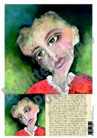 Laserprint A3 The lady with brown eys