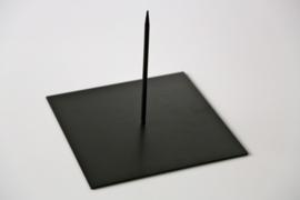 Metalen Sokkel 12x12 cm - 1 pin