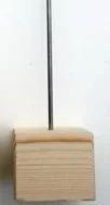 Sokkel met pin 10 cm