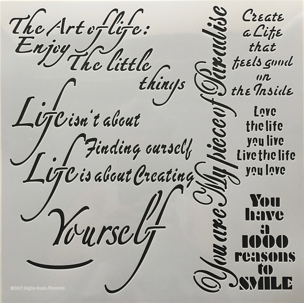 The art of life Stencil 30x30 cm