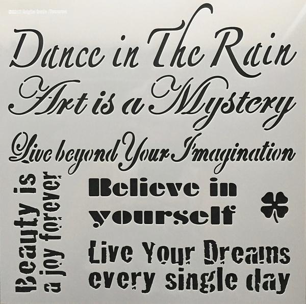 Dance in the rain Stencil 30x30 cm