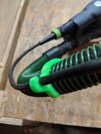 Slang / elektra 6 clips om Festool ribbelslang (33mm)