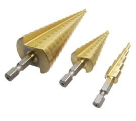 Trappenboor - staal/aluminium  - titanium coating
