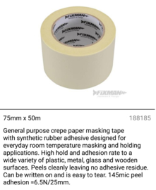 Extra breed tape 75mm