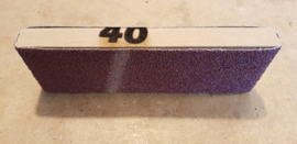 Schuurblok met topkwaliteit schuurpapier P40