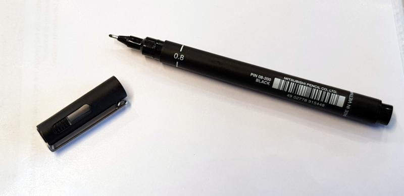 Aftekenstift deuvelmarker - 0,8mm