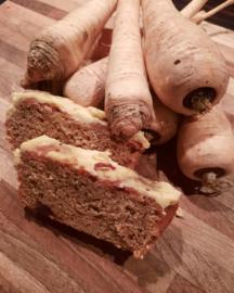 pastinaak wortelpeterselie taart