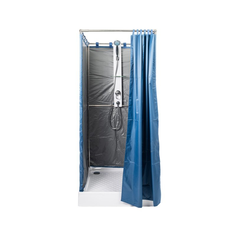 Blue Move - mobile emergency shower cabin - 90x90 cm
