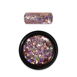Moyra Rainbow Holo Glitter Mix 6. RoseGold