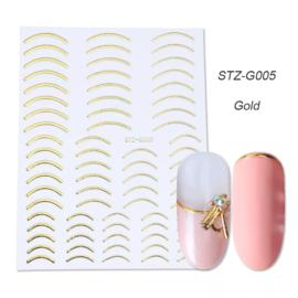 Kerst sticker STZ-G005 goud