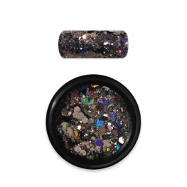 Moyra Rainbow Holo Glitter Mix 10. Black