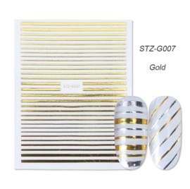 Kerst sticker STZ-G007 goud