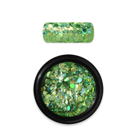 Moyra Rainbow Holo Glitter Mix 8. Green