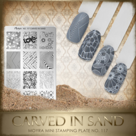 Moyra Mini Stamping Plate 117 Carved in Sand