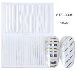 Sticker STZ-G006 zilver