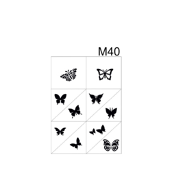 PNS Airbrush Stencil Sjablonen M40