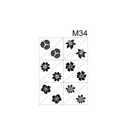 PNS Airbrush Stencil Sjablonen M34