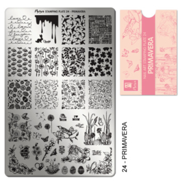 Moyra Stamping Plate 24 Primavera