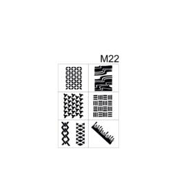 PNS Airbrush Stencil Sjablonen M22