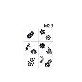 PNS Airbrush Stencil Sjablonen M29