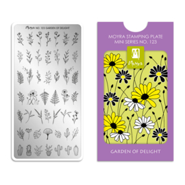 Moyra Mini Stamping Plate 123 Garden Of Delight