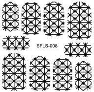 PNS Metallic Filigree Stickers sfls-008 gold