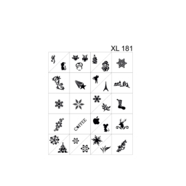 PNS Airbrush Stencil Sjablonen XL181