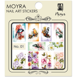 Moyra Nail Art Sticker Watertransfer No.01