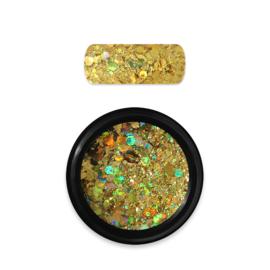 Moyra Rainbow Holo Glitter Mix 7. Dark Gold