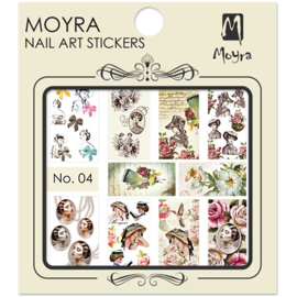 Moyra Nail Art Sticker Watertransfer No.04