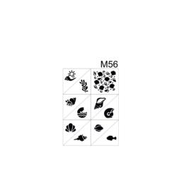PNS Airbrush Stencil Sjablonen M56