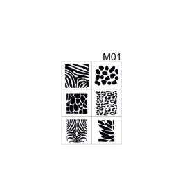 PNS Airbrush Stencil Sjablonen M01