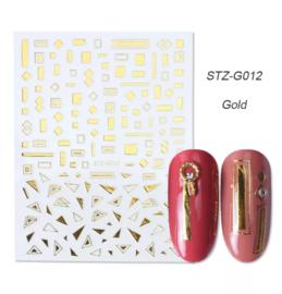Kerst sticker STZ-G012 goud