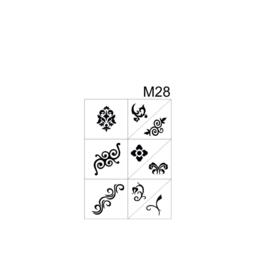 PNS Airbrush Stencil Sjablonen M28