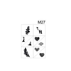 PNS Airbrush Stencil Sjablonen M27