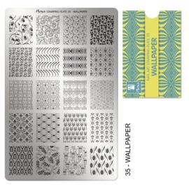 Moyra Stamping Plate 35 Wallpaper