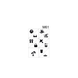 PNS Airbrush Stencil Sjablonen M61