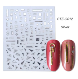 Kerst sticker STZ-G012 zilver