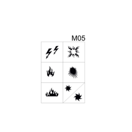 PNS Airbrush Stencil Sjablonen M05