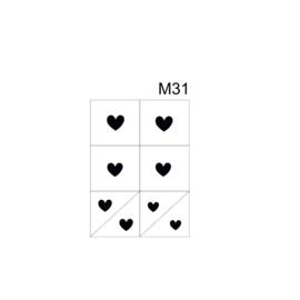 PNS Airbrush Stencil Sjablonen M31