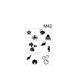 PNS Airbrush Stencil Sjablonen M42