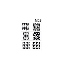 PNS Airbrush Stencil Sjablonen M02