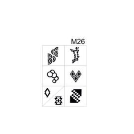 PNS Airbrush Stencil Sjablonen M26