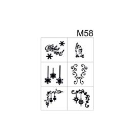 PNS Airbrush Stencil Sjablonen M58