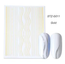 Kerst sticker STZ-G011 goud