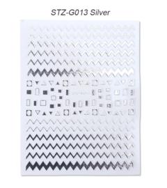 Kerst sticker STZ-G013 zilver