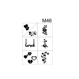 PNS Airbrush Stencil Sjablonen M46