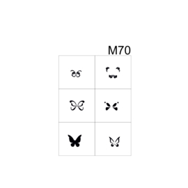 PNS Airbrush Stencil Sjablonen M70