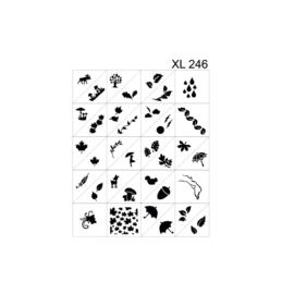 PNS Airbrush Stencil Sjablonen XL246