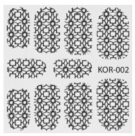 PNS Metallic Filigree Stickers kor-002 silver